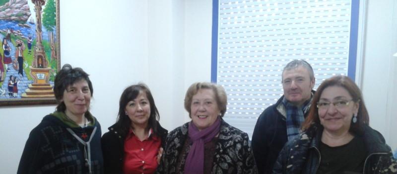 A nosa presidenta co personal docente do IES de CAcheiras