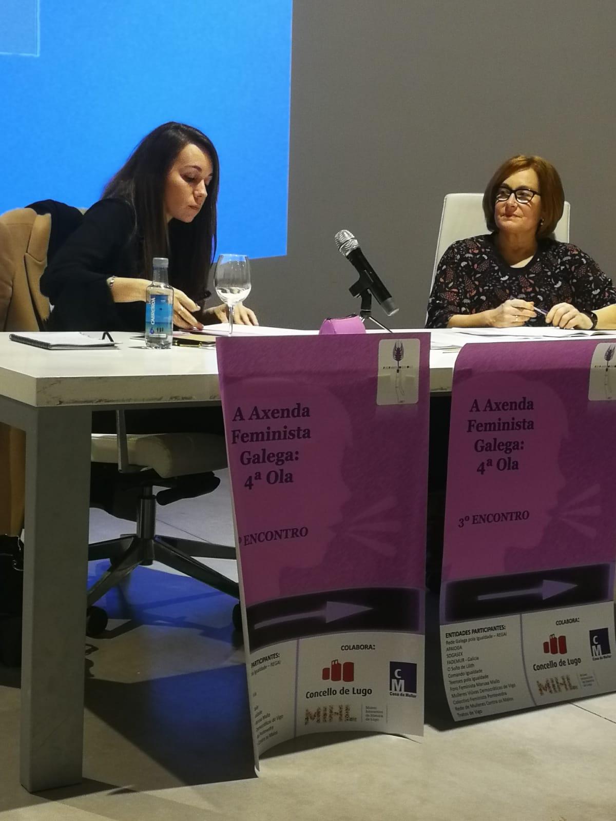 A directiva de Teenses pola Igualdade participa no encontro «A axenda feminista galega: cuarta ola»