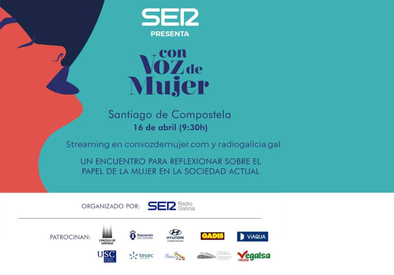 A presidenta de Teenses pola Igualdade participa no foro «Con Voz de Mujer», organizado pola CADENA SER