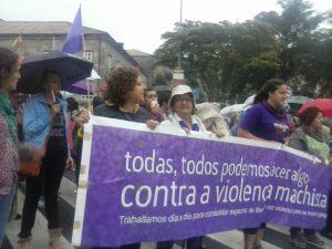 PROTESTA CONTRA OS ULTIMOS CRIMES MACHISTAS