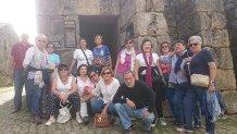 Parte do grupo a entrada do Campamento romano