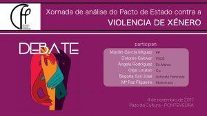 Xornada de Analise do Pacto de Estado contra a Violencia de Género