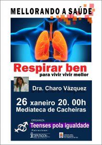 A Dra. Vázquez falará sobre os beneficios dunha correcta respiración